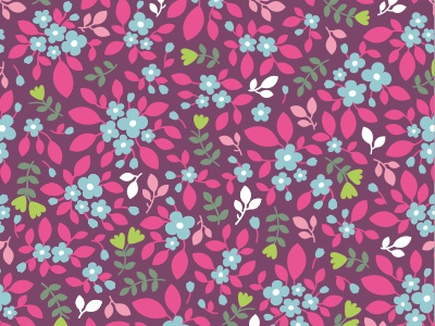Floral pattern seamless flat bloom pattern background pink floral flower