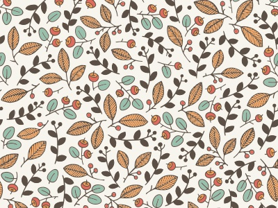 Floral pattern seamless nature foliage backdrop pattern background floral forest berry