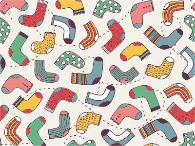 Funny socks seamless backdrop background colorful cute childish pattern sox socks