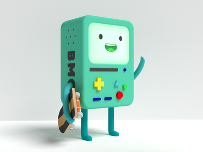 BMO fanart b3d character blender robot gameboy skateboard skate cartoon adventure time bmo 3d model 3d