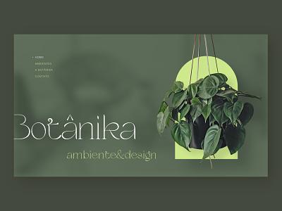 Botanika - Concept site design design branding ux ui web website