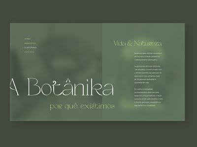 Botanika - Concept site design (About Screen) website design web design website design ux web ui