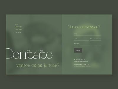 Botanika - Concept site design (Contact Screen) web design website design ux ui web