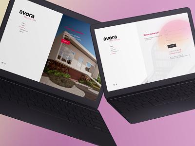 Ávora Arquitetura desktop mobile design ux web ui