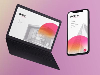 Ávora Arquitetura branding logo social media mobile design ux web ui