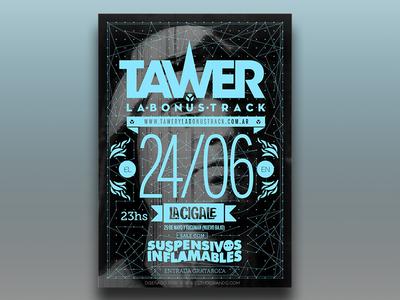 Tawer y la Bonus track Poster