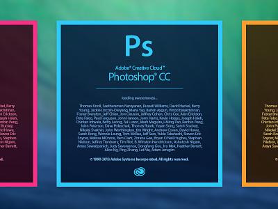 Adobe Creative Cloud Splashscreen adobe photoshop creative cloud cc illustrator indesign splash screen osx
