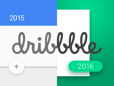 Dribbble 7 rebound progress material evolution dribble 2016 2015 white card dailyui ui design