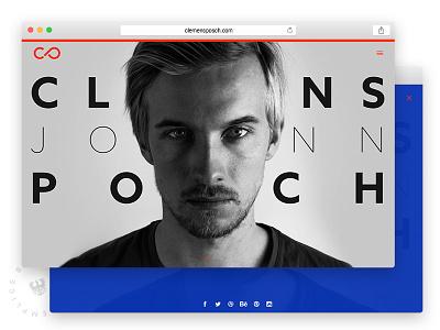 Portfolio Update branding portrait bold posch clemens semplice website web logo personal portfolio