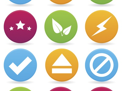 FREE Vector Icon Set free vector icon set download facebook new stars buttons button shadow bolt play sign signs .eps eps