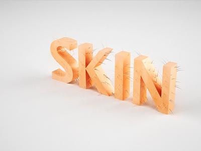 Skin test skin hair gross hairy 3d c4d vray