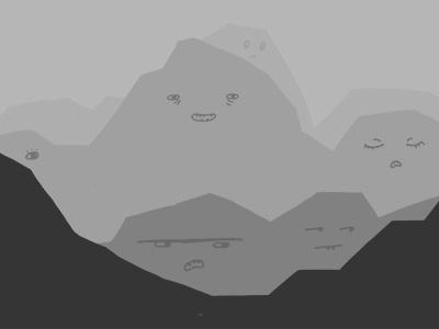 Mountains photoshop drawing illustration mountain