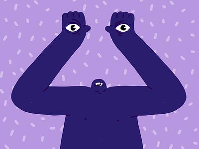 eyes creature monster character design illustration