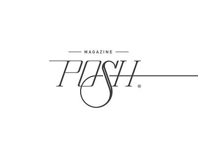 Posh Magazine minimal logo branding