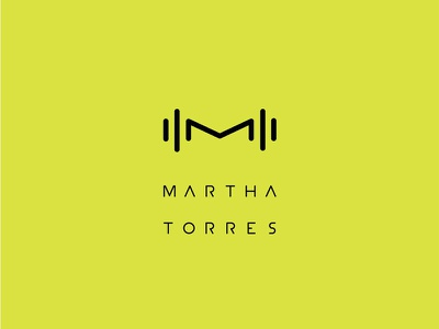 MARTHA TORRES be strong personal trainer minimal branding logo health sports fitness