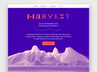 Harvest Conference identity and website concept
