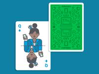 Queen of Diamonds & Card Back