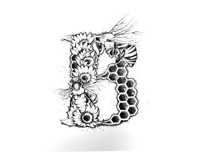 Illustrated 'B' is for Bees