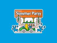 Summer Party Illustration