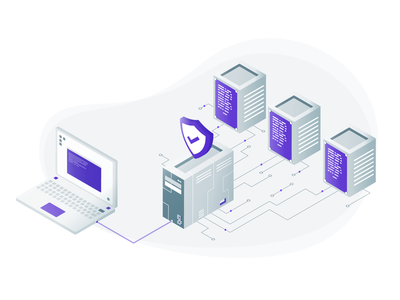 SSH Jump Server terminal safe connect connection protection shield database computer purple branding vector design illustration crypto server jump ssh