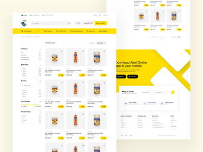 Adel Online - Products ecommerce shopify products shop website web webdesign user experience userinterface product design uxdesign uidesign design ux ui
