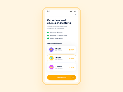 Chatty - Subscription plans chat payment subscription subscribe interaction design ux design ui design ui  ux uiux app design user experience appdesign userinterface product design app uxdesign uidesign design ux ui