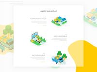 Pick logistics - Isometric illustration