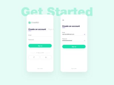 Aid App - Create an Account