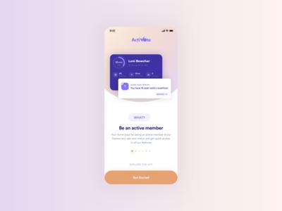 Vote app - Onboarding