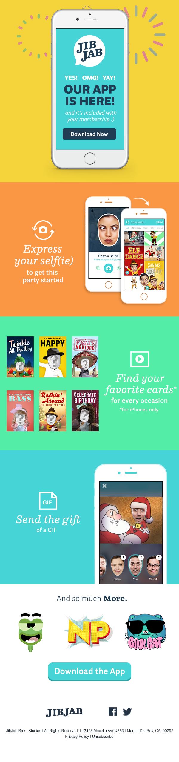 JibJab / Projects / JibJab - The App | Dribbble