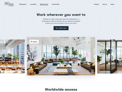 Places – Membership Page website icons pricing coworking minimalist ui ux interface design