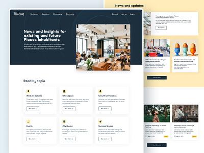 Places – Blog hero categories blog design interface ux ui minimalist coworking icons website