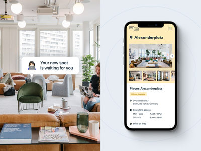 Places – Coworking Page Mobile coworking mobile interface ui design website graphic design ux web