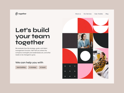 Together – HR Agency rebound hr hero concept patterndesign pattern illustration minimalist website typography graphic design web ui design