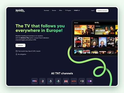 Molotov Redesign style exploration redesign concept web design hero website typography graphic design web ux interface ui design