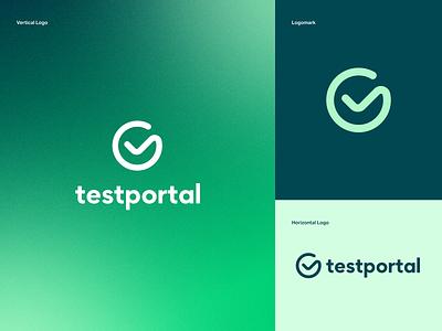 Testportal – Brand identity minimalist saas logo startup brand identity identity branding logo typography graphic design design