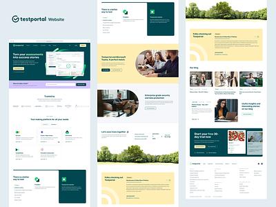 Testportal – Website Home Page icons website design marketing website web design product unikorns landing page saas website branding typography graphic design web ux interface ui design