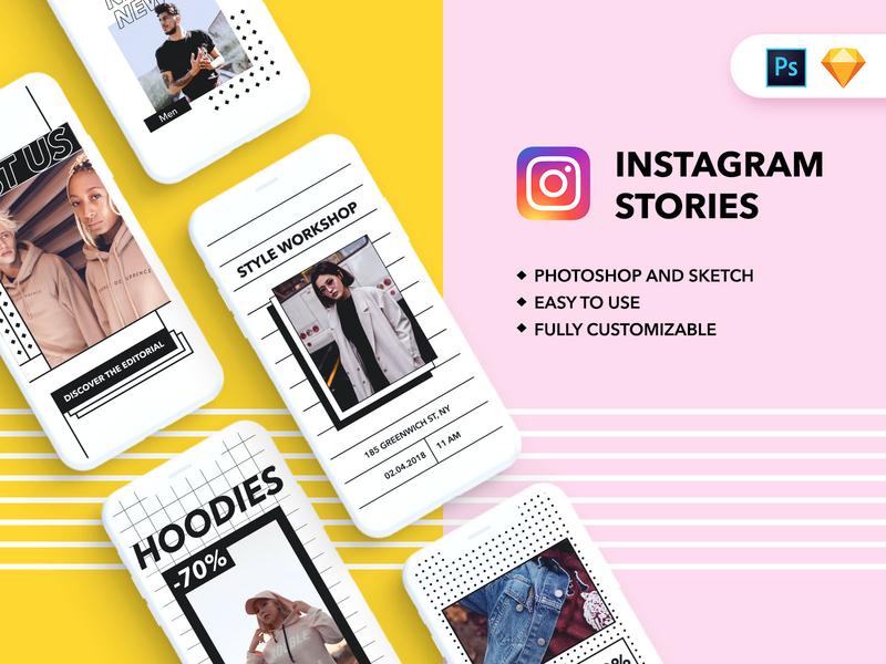 Instagram stories templates flat template graphic  design freebie free social media social ecommerce design