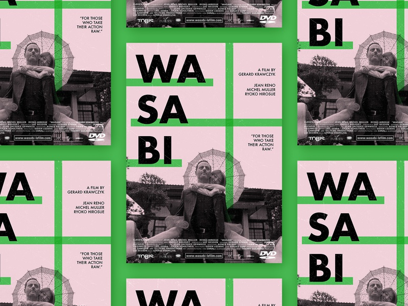 Wasabi movie poster geometric simple typography print poster graphic design
