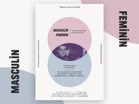 """Masculin feminin"" movie poster"