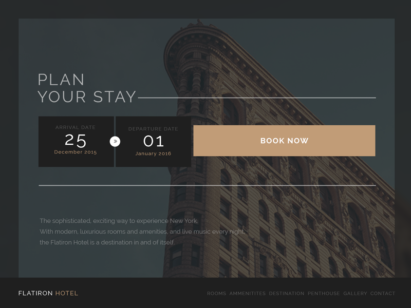 DailyUI Day067 travel booking reservation hotel ecommerce 067 day067 ui dailyui