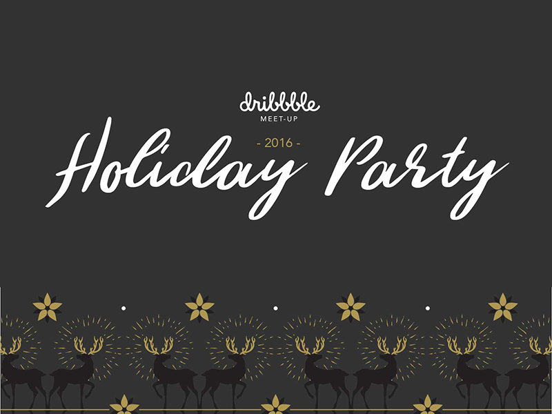 2016 AIGA Holiday Party x Dribbble Meetup reindeer event holiday party meetup