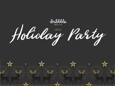 2016 AIGA Holiday Party x Dribbble Meetup