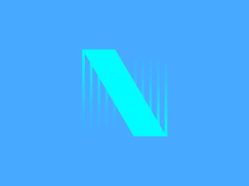 Typehue N abstract n green blue typography typehue
