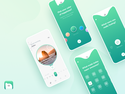 Innersource journaling & mood tracking app mental health motivation selfcare colors onboarding screen app meditation product design journey mobile app design uidesign uiux happiness mood relax mindset mindfulness mindful mood tracker