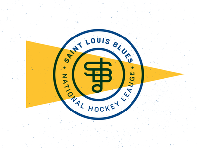 LGB texture badge monogram vintage lockup logo nhl hockey blues stl st louis saint louis