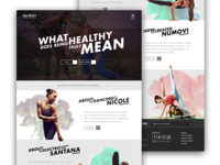 Landing Page, Yoga and Lifestyle