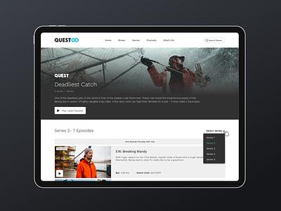 Quest OD video ui vod product design