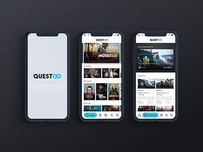 Quest OD app video ui vod product design