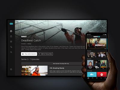 quest od tv app mobile video ui vod product design